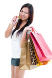 Young Woman Shopper Royalty Free Stock Photos
