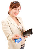 Young woman on shopping Stock Photo