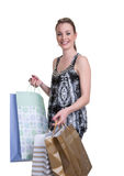 Young woman with shopping Stock Images