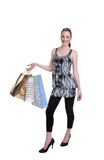 Young woman with shopping Royalty Free Stock Photo