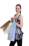 Young woman with shopping Royalty Free Stock Photography