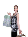 Young woman with shopping Royalty Free Stock Photos