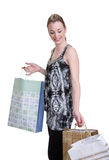 Young woman with shopping Stock Photo