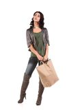 Young woman with shopping Stock Image