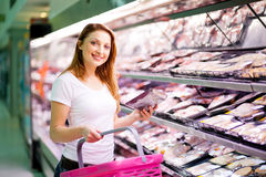 Young woman shopping Stock Photography