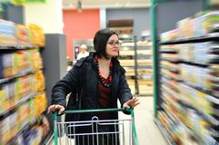 Young woman in shopping Stock Photos
