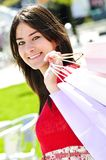 Young woman shopping royalty free stock photos