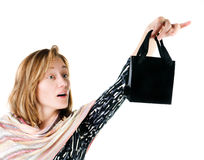 Young woman with shopping bag Stock Photos