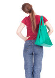 Young woman with shopping bag Stock Images
