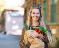 Young woman with shopping bag Stock Image