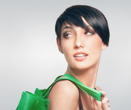Young woman with shopping bag Royalty Free Stock Images