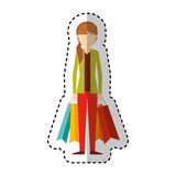 Young woman with shopping bag Stock Photo