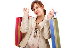 Young woman with shopping bags Stock Photo