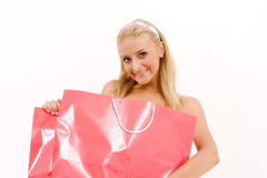 Young woman with shopping bags Stock Photography