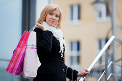 Young woman with shopping bags. Stock Image