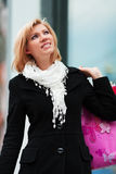 Young woman with shopping bags. Stock Photos