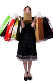 Young woman with shopping bags (2) Stock Images