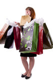 Young woman with shopping bags (4) Stock Image