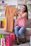The young woman after shopping with bags Stock Image