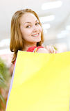 Young woman with shopping bags Stock Image