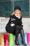 Young woman with shopping bags Royalty Free Stock Image