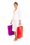 Young woman with shopping bags standing Royalty Free Stock Photography