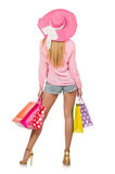 Young woman with shopping bags Royalty Free Stock Photos