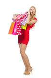 Young woman with shopping bags Stock Photos