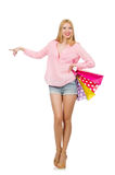 Young woman with shopping bags Royalty Free Stock Photo