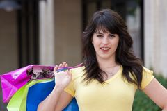 Young Woman Shopping In The City Stock Photography