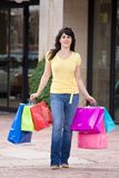 Young Woman Shopping In The City Royalty Free Stock Images