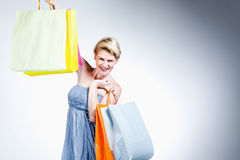 Young woman shopping Royalty Free Stock Image