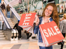 Young woman  shopping Stock Images