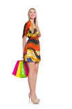 Young woman after shopping Royalty Free Stock Images