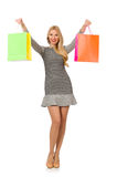 Young woman after shopping Stock Photography
