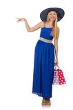 Young woman after shopping Stock Photo