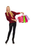 Young woman after shopping Royalty Free Stock Photo
