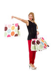 Young woman after shopping Stock Photos