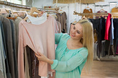 Young woman shopping jersey Stock Image