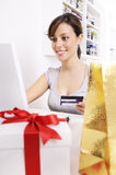 Young woman in shopping on-line Stock Image