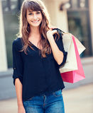 Young woman shopping at the mall Stock Photo