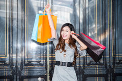 Young woman shopping in mall Stock Photography