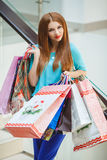 Young woman shopping in a mall Royalty Free Stock Photo