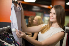 Young woman shopping royalty free stock images