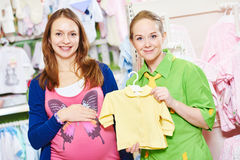 Young woman shopping during pregnancy Stock Images