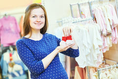 Young woman shopping during pregnancy Royalty Free Stock Image