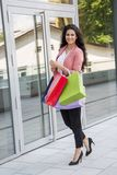 Young woman in shopping Stock Images