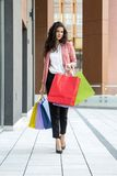 Young woman in shopping Royalty Free Stock Image