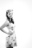 Young Woman In Short Modest Dress Royalty Free Stock Photo