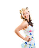 Young Woman In Short Modest Dress Royalty Free Stock Photography